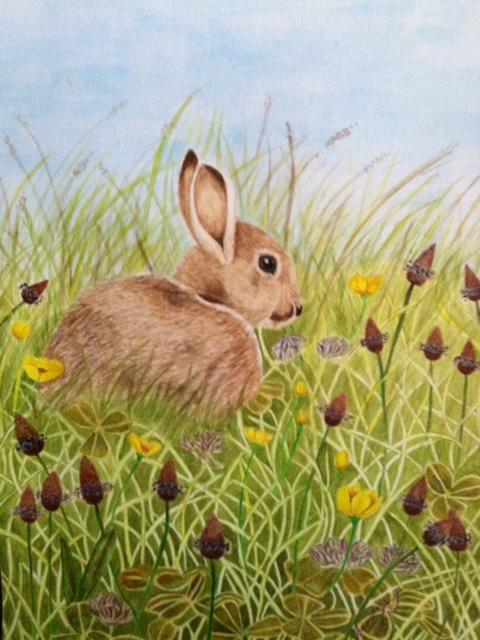 Easter Bunny - ORIGINAL SOLD